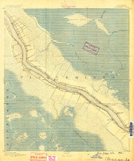 Pointe a La Hache Louisiana Historical topographic map, 1:62500 scale, 15 X 15 Minute, Year 1891