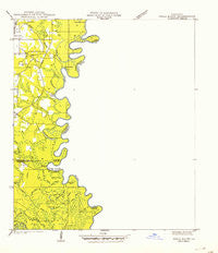 Pools Bluff Mississippi Historical topographic map, 1:31680 scale, 7.5 X 7.5 Minute, Year 1942