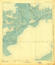 Rigolets Louisiana Historical topographic map, 1:62500 scale, 15 X 15 Minute, Year 1893