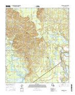Rocky Branch Louisiana Current topographic map, 1:24000 scale, 7.5 X 7.5 Minute, Year 2015 from Louisiana Map Store