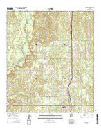 Rosepine Louisiana Current topographic map, 1:24000 scale, 7.5 X 7.5 Minute, Year 2015 from Louisiana Map Store