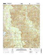Saline Louisiana Current topographic map, 1:24000 scale, 7.5 X 7.5 Minute, Year 2015 from Louisiana Map Store