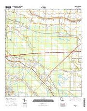 Savoie Louisiana Current topographic map, 1:24000 scale, 7.5 X 7.5 Minute, Year 2015 from Louisiana Maps Store