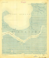 Shell Beach Louisiana Historical topographic map, 1:62500 scale, 15 X 15 Minute, Year 1893