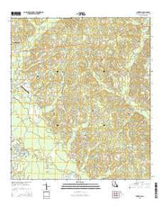 Sheridan Louisiana Current topographic map, 1:24000 scale, 7.5 X 7.5 Minute, Year 2015 from Louisiana Maps Store