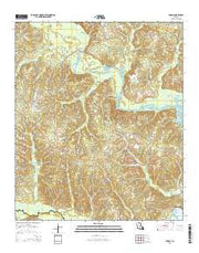 Shiloh Louisiana Current topographic map, 1:24000 scale, 7.5 X 7.5 Minute, Year 2015 from Louisiana Maps Store