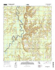 Shoats Creek Louisiana Current topographic map, 1:24000 scale, 7.5 X 7.5 Minute, Year 2015 from Louisiana Maps Store