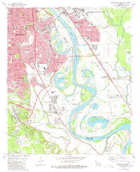 Shreveport East Louisiana Historical topographic map, 1:24000 scale, 7.5 X 7.5 Minute, Year 1980