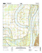 Spokane Louisiana Current topographic map, 1:24000 scale, 7.5 X 7.5 Minute, Year 2015 from Louisiana Map Store