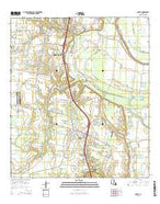 Sunset Louisiana Current topographic map, 1:24000 scale, 7.5 X 7.5 Minute, Year 2015 from Louisiana Map Store