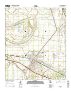Tallulah Louisiana Current topographic map, 1:24000 scale, 7.5 X 7.5 Minute, Year 2015 from Louisiana Map Store