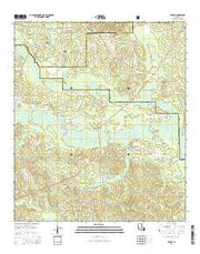 Temple Louisiana Current topographic map, 1:24000 scale, 7.5 X 7.5 Minute, Year 2015 from Louisiana Maps Store