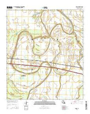 Tendal Louisiana Current topographic map, 1:24000 scale, 7.5 X 7.5 Minute, Year 2015 from Louisiana Maps Store