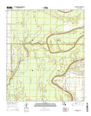 Tensas Bluff Louisiana Current topographic map, 1:24000 scale, 7.5 X 7.5 Minute, Year 2015 from Louisiana Maps Store