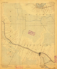 Thibodaux Louisiana Historical topographic map, 1:62500 scale, 15 X 15 Minute, Year 1892