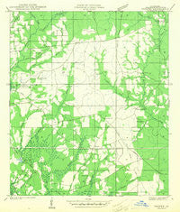 Thigpen Louisiana Historical topographic map, 1:31680 scale, 7.5 X 7.5 Minute, Year 1942