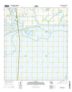 Tigre Lagoon Louisiana Current topographic map, 1:24000 scale, 7.5 X 7.5 Minute, Year 2015 from Louisiana Map Store