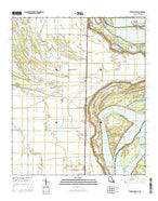 Transylvania Louisiana Current topographic map, 1:24000 scale, 7.5 X 7.5 Minute, Year 2015 from Louisiana Map Store