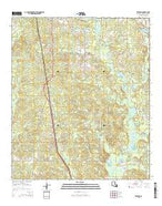 Trenton Louisiana Current topographic map, 1:24000 scale, 7.5 X 7.5 Minute, Year 2015 from Louisiana Map Store