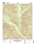 Truxno Louisiana Current topographic map, 1:24000 scale, 7.5 X 7.5 Minute, Year 2015 from Louisiana Map Store
