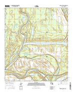 Turnbull Island Louisiana Current topographic map, 1:24000 scale, 7.5 X 7.5 Minute, Year 2015 from Louisiana Map Store