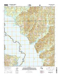 Union Springs Louisiana Current topographic map, 1:24000 scale, 7.5 X 7.5 Minute, Year 2015