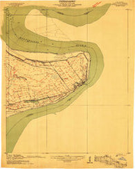 Vidalia Mississippi Historical topographic map, 1:24000 scale, 7.5 X 7.5 Minute, Year 1909