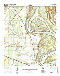 Walls Louisiana Current topographic map, 1:24000 scale, 7.5 X 7.5 Minute, Year 2015