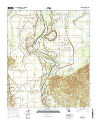 Wardview Louisiana Current topographic map, 1:24000 scale, 7.5 X 7.5 Minute, Year 2015