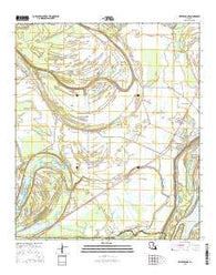Waterproof Louisiana Current topographic map, 1:24000 scale, 7.5 X 7.5 Minute, Year 2015