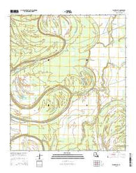 Waverly SE Louisiana Current topographic map, 1:24000 scale, 7.5 X 7.5 Minute, Year 2015
