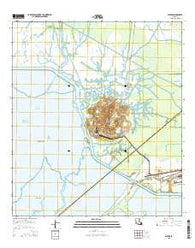 Weeks Louisiana Current topographic map, 1:24000 scale, 7.5 X 7.5 Minute, Year 2015