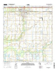 Welsh South Louisiana Current topographic map, 1:24000 scale, 7.5 X 7.5 Minute, Year 2015