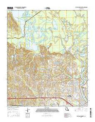 West Monroe North Louisiana Current topographic map, 1:24000 scale, 7.5 X 7.5 Minute, Year 2015