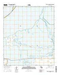 West of Johnson Bayou Louisiana Current topographic map, 1:24000 scale, 7.5 X 7.5 Minute, Year 2015