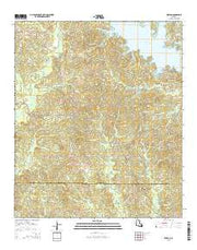 Weston Louisiana Current topographic map, 1:24000 scale, 7.5 X 7.5 Minute, Year 2015 from Louisiana Maps Store