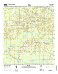 Whitehall Louisiana Current topographic map, 1:24000 scale, 7.5 X 7.5 Minute, Year 2015