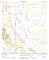 Whiteville Louisiana Historical topographic map, 1:24000 scale, 7.5 X 7.5 Minute, Year 1966