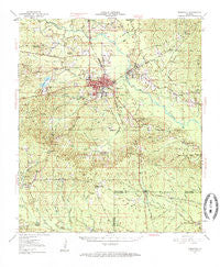 Winnfield Louisiana Historical topographic map, 1:62500 scale, 15 X 15 Minute, Year 1950