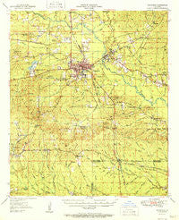 Winnfield Louisiana Historical topographic map, 1:62500 scale, 15 X 15 Minute, Year 1951