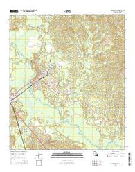 Winnfield East Louisiana Current topographic map, 1:24000 scale, 7.5 X 7.5 Minute, Year 2015