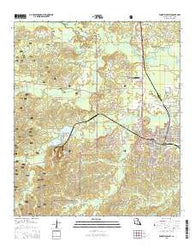 Winnfield West Louisiana Current topographic map, 1:24000 scale, 7.5 X 7.5 Minute, Year 2015