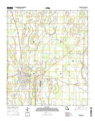 Winnsboro Louisiana Current topographic map, 1:24000 scale, 7.5 X 7.5 Minute, Year 2015