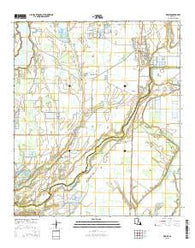 Wisner Louisiana Current topographic map, 1:24000 scale, 7.5 X 7.5 Minute, Year 2015