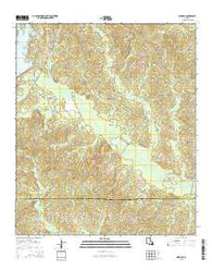 Womack Louisiana Current topographic map, 1:24000 scale, 7.5 X 7.5 Minute, Year 2015