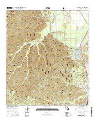 Woodworth West Louisiana Current topographic map, 1:24000 scale, 7.5 X 7.5 Minute, Year 2015