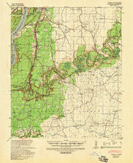 Yokena Mississippi Historical topographic map, 1:62500 scale, 15 X 15 Minute, Year 1939