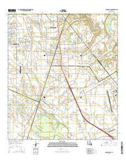 Youngsville Louisiana Current topographic map, 1:24000 scale, 7.5 X 7.5 Minute, Year 2015 from Louisiana Maps Store