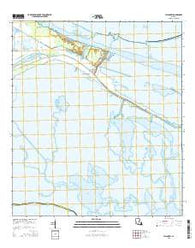 Yscloskey Louisiana Current topographic map, 1:24000 scale, 7.5 X 7.5 Minute, Year 2015