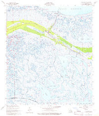 Yscloskey Louisiana Historical topographic map, 1:24000 scale, 7.5 X 7.5 Minute, Year 1957